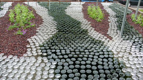 Садовая дорожка своими руками фото из бутылок