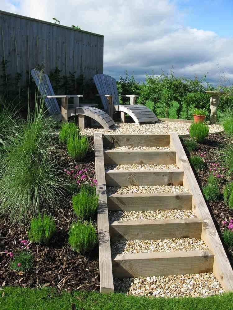 садовые лестницы на дачном участке фото стейки можно
