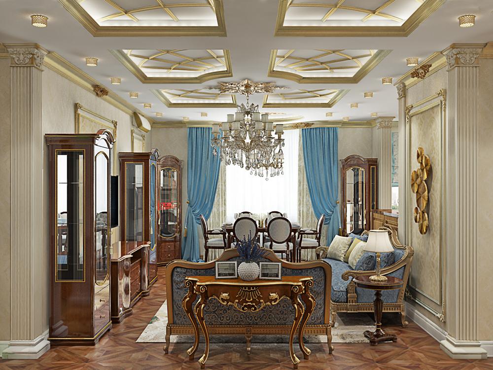 классический дизайн квартиры в картинка одревесневшее