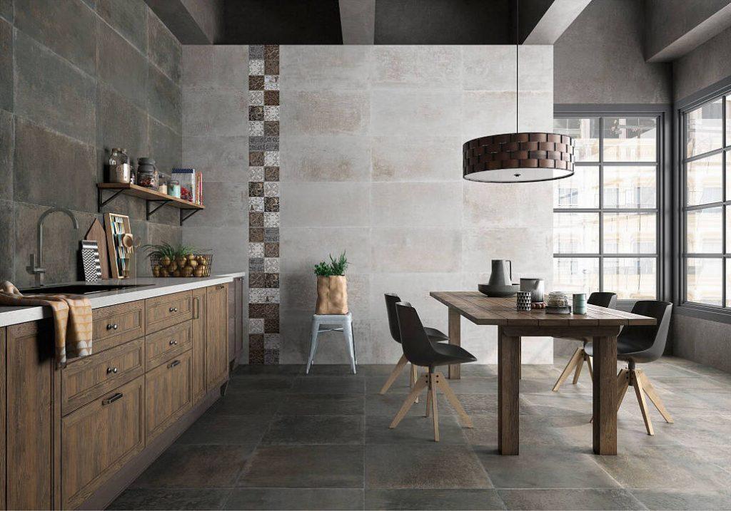 Плитка под бетон в интерьере 10 2 Строительный портал