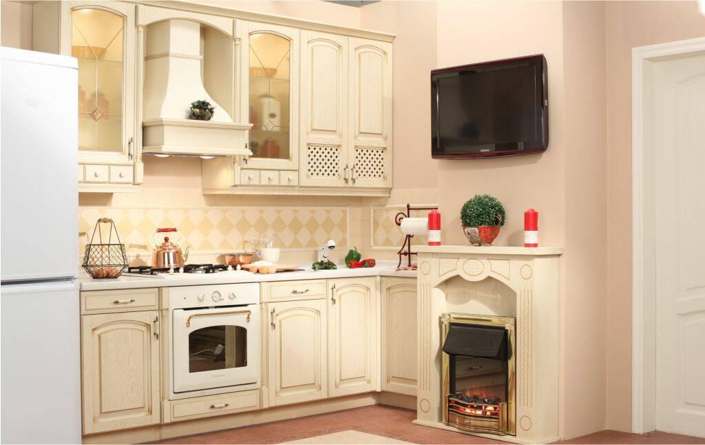 Интерьер кухни с камином 10 3 Строительный портал
