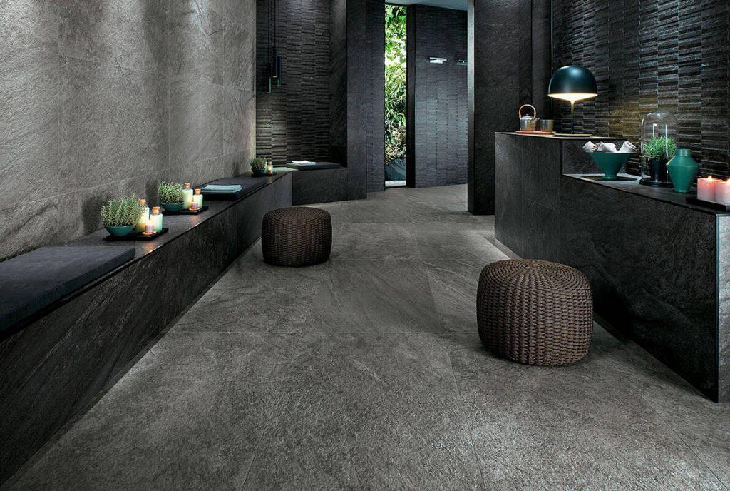 Плитка под бетон в интерьере 4 27 Строительный портал