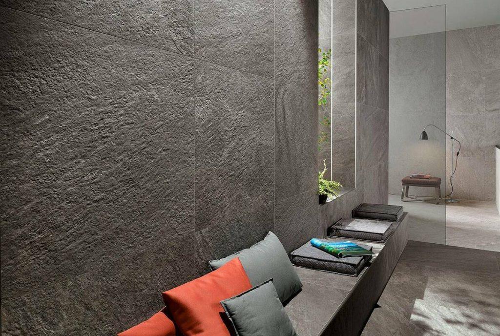 Плитка под бетон в интерьере 7 14 Строительный портал