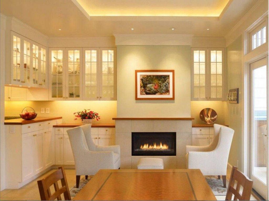 Интерьер кухни с камином 9 6 Строительный портал